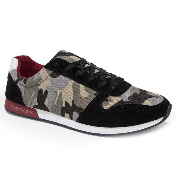 Best Fashion Splicing and Camouflage Pattern Design Athletic Shoes For Men