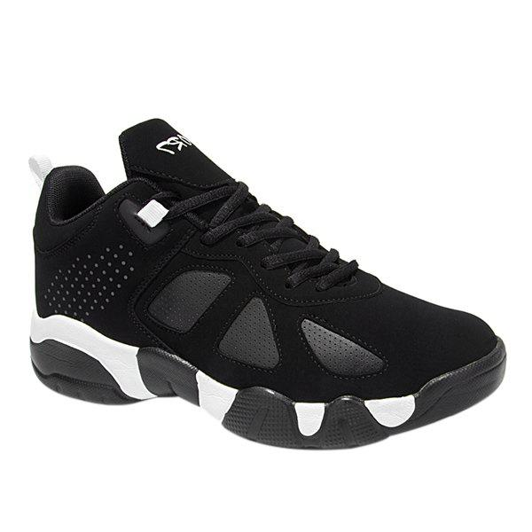 New Stylish Lace-Up and Suede Design Athletic Shoes For Men
