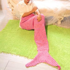 Photography Prop or Sofa Knitted Mermaid Blanket - Pink - 180*145cm