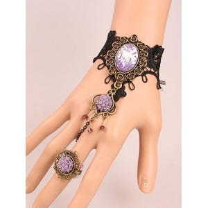 Resin Flower Bracelet with Ring - Colormix
