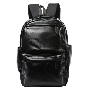 Casual Black and Zipper Design Backpack For Men