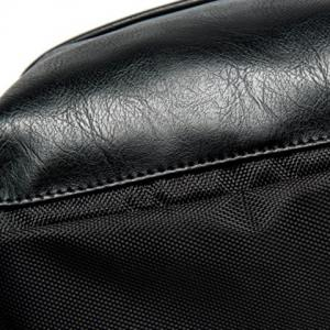 Casual Black and Zipper Design Backpack For Men -