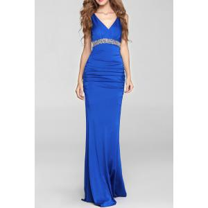 Backless Mermaid Prom Tart Maxi Evening Dress
