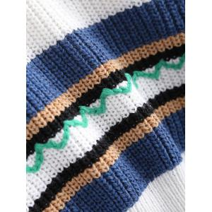 Trendy Hit Color Striped Sweater -