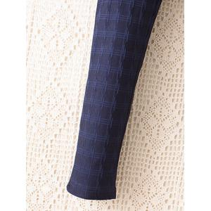 Plus Size Plaid Pattern Tapered Pants -