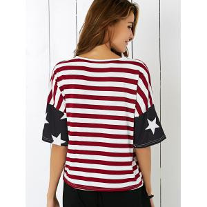 Single Pocket American Flag T-Shirt -