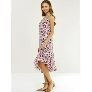 Sweet Spaghetti Strap Plane Print Asymmetric Mermaid Dress -