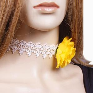 Lace Floral Embellished Party Choker -