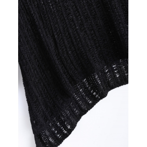 Freshing Openwork Sequin Embelllished Knitwear -