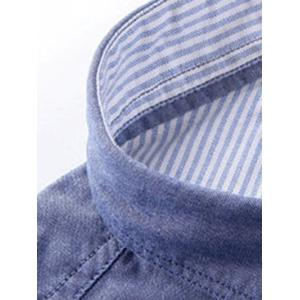 Turn-Down Collar Embroidery Logo Button-Down Shirt For Men -