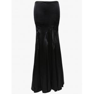 Alluring Women's Black High Slit Fishtail Skirt -