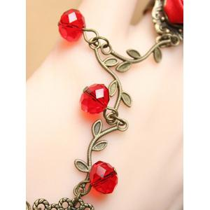 Stylish Filigree Branch Lace Bracelet with Rose Ring -