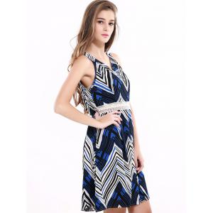 Stylish Sleeveless Zig Zag Dress For Women -