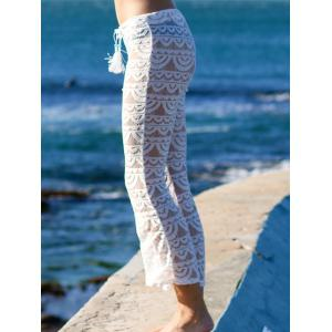 Lace See-Through Beach Cover Up Pants -