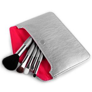 Stylish 5 Pcs Goat Hair Horsehair Facial Eye Makeup Brushes Set with Storage Package -
