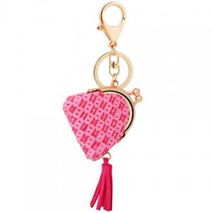 Mini Bag Faux Leather Tassel Keyring -