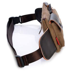 Leisure Splicing and Magnetic Closure Design Messenger Bag For Men - COFFEE