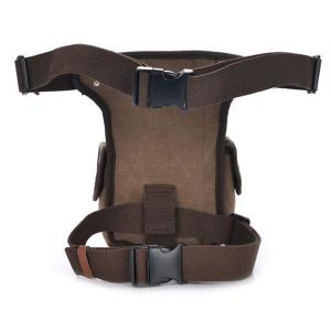 Leisure Canvas and String Design Waist Bag For Men - COFFEE