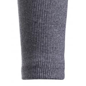 Long Sleeve Sheath Knit Dress For Work - GRAY ONE SIZE