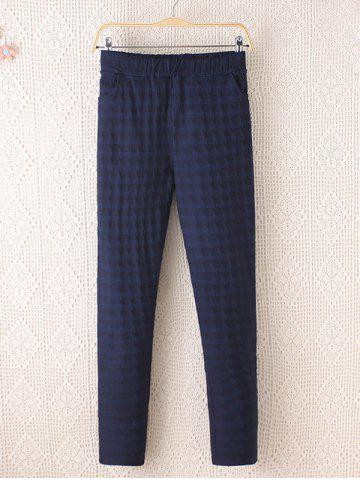New Plus Size Plaid Pattern Tapered Pants