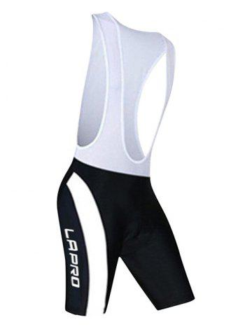 Unique Active Spliced Bibshort + Short Sleeve Bike Jerseys Twinset For Men - L WHITE AND BLACK Mobile