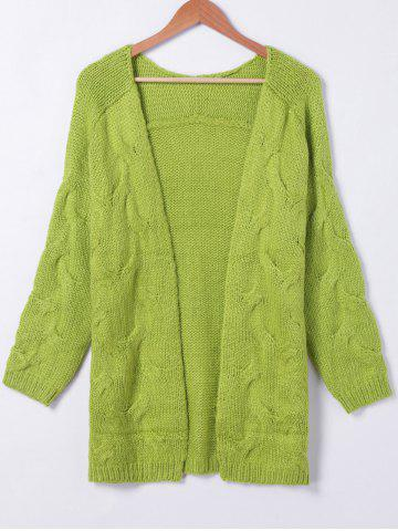Affordable Pure Color Long Sleeve Cardigan