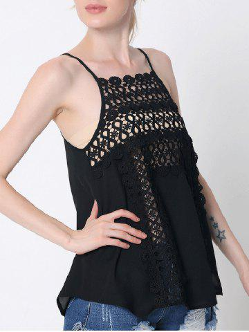Hot Lace Cami Tank Top BLACK 2XL