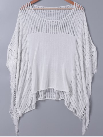 Fancy Sweet Hollow Out Fringed Blouse