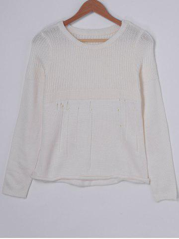 Trendy Casual Solid Color Hollow Out Sweater