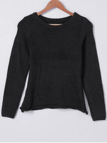 Cheap Casual Solid Color Hollow Out Sweater