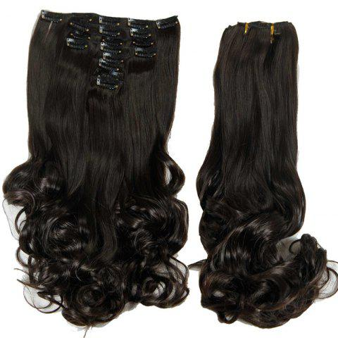 Fashion Medium Curly High Temperature Fiber Clip In Hair Extension For Women