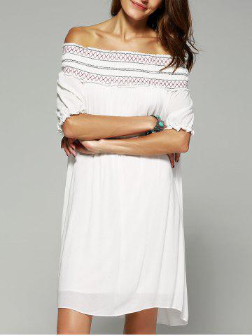 Online Bohemian Style Off The Shoulder Frilled Dress