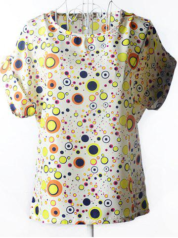 Sale Chic Multicolor Polka Dot Chiffon Women's Blouse