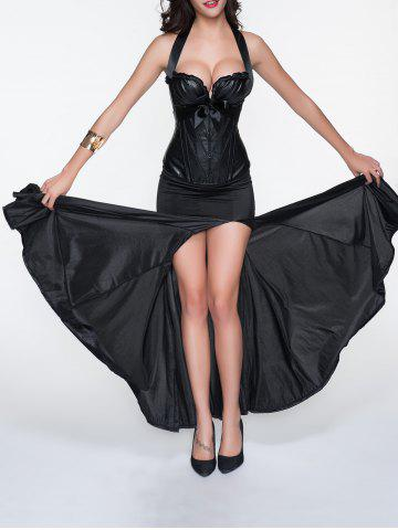 Fancy Alluring Women's Black High Slit Fishtail Skirt