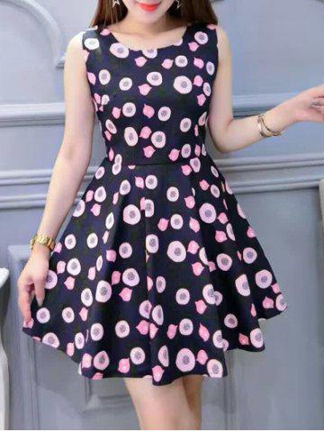 Fashion Chic Print High Waist Sleeveless Dress