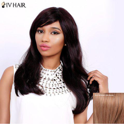 Latest Charming Long Side Bang Fluffy Natural Wave Siv Hair Capless Human Hair Wig For Women