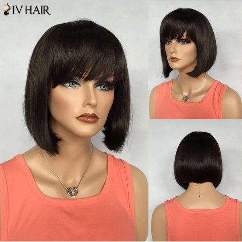 Affordable Bob Hairstyle Short Siv Hair Capless Straight Real Natural Hair Wig For Women