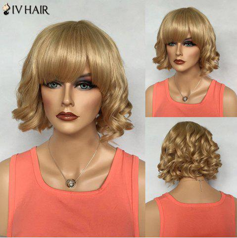 Chic Noble Full Bang Short Capless Siv Hair Fluffy Curly Real Natural Hair Wig For Women