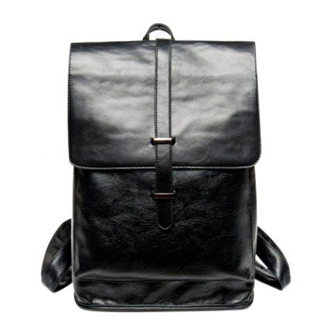 Unique Trendy Strap and Black Color Design Backpack For Men - BLACK  Mobile