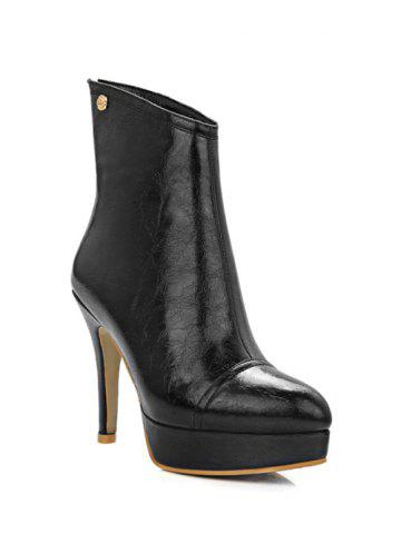 Latest Fashion Platform and Metal Design Short Boots For Women