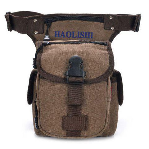 Buy Leisure Canvas and String Design Waist Bag For Men
