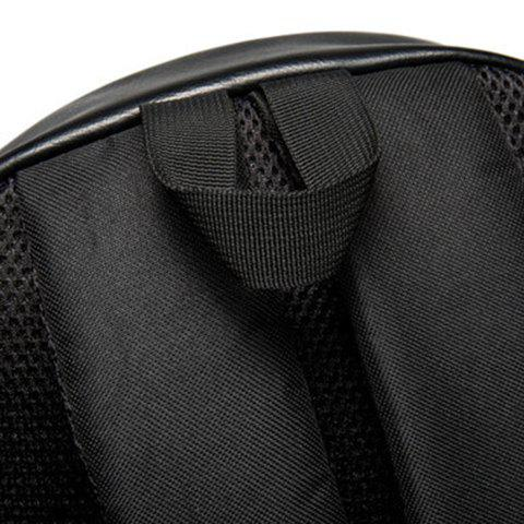 New Casual Black and Zipper Design Backpack For Men - BLACK  Mobile