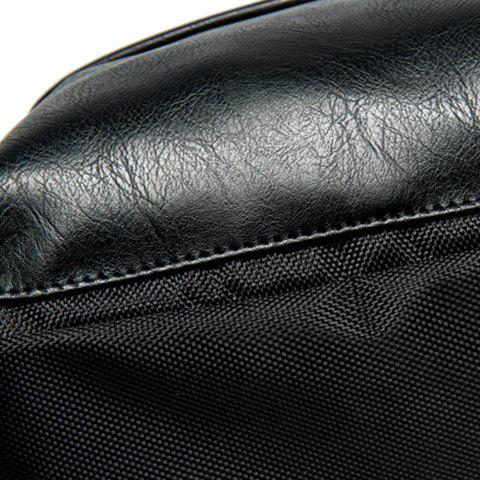 Unique Casual Black and Zipper Design Backpack For Men - BLACK  Mobile