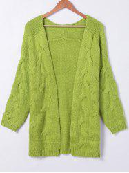 Pure Color Long Sleeve Cardigan -
