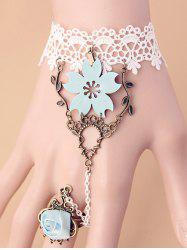 Filigree Branch Rose Lace Bracelet with Ring