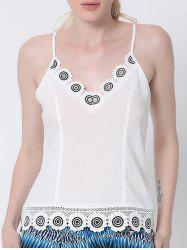Alluring Laciness Applique Tank Top For Women -