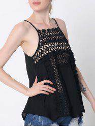 Lace Cami Tank Top - BLACK 2XL