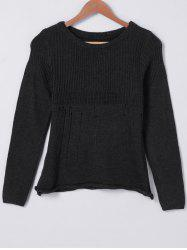 Casual Solid Color Hollow Out Sweater -