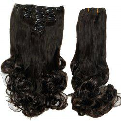 Medium Curly High Temperature Fiber Clip In Hair Extension For Women -
