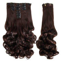 Graceful Medium Curly High Temperature Fiber Hair Extension For Women
